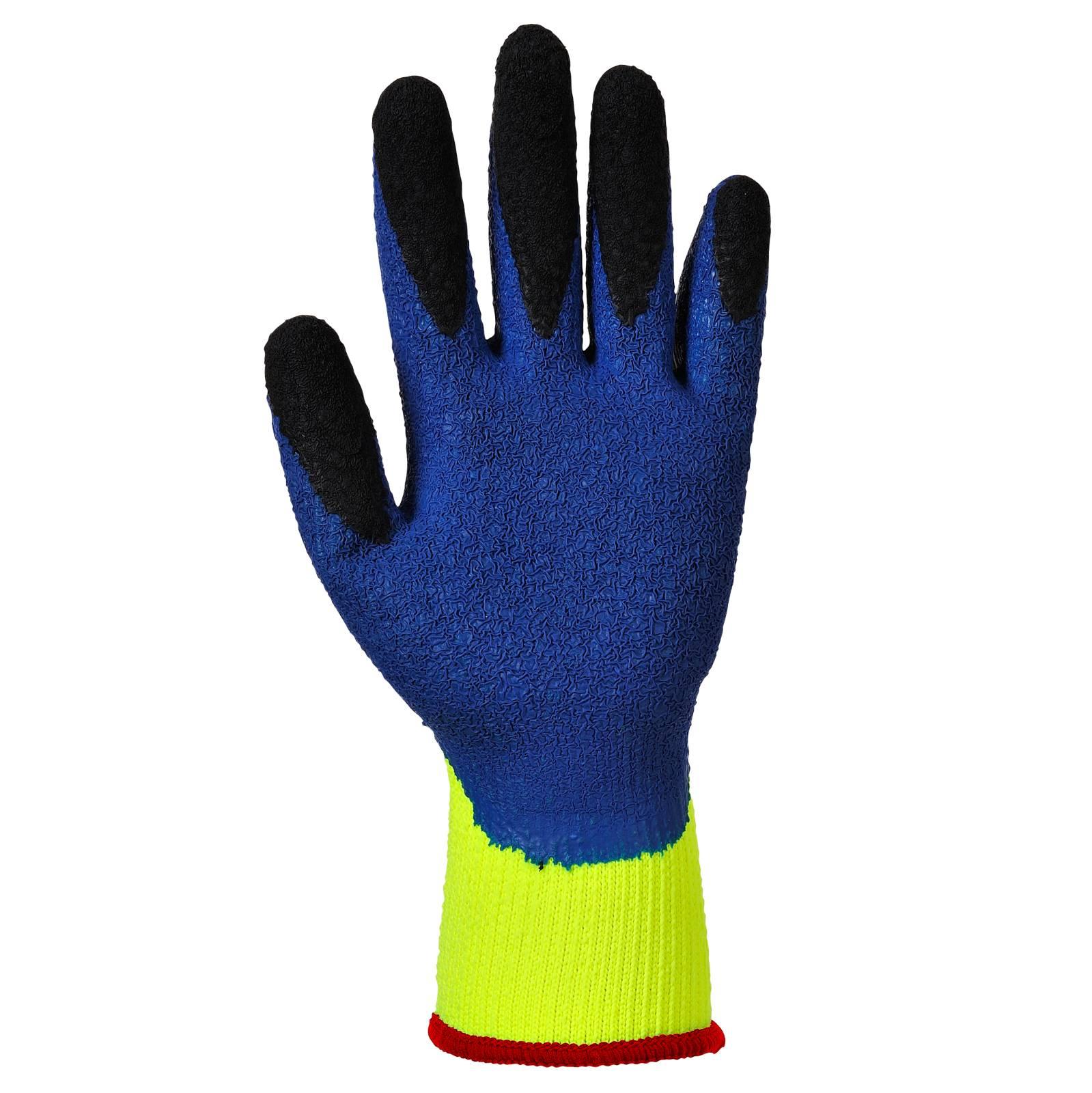 Portwest Handschoenen A185 geel-blauw(Y4)