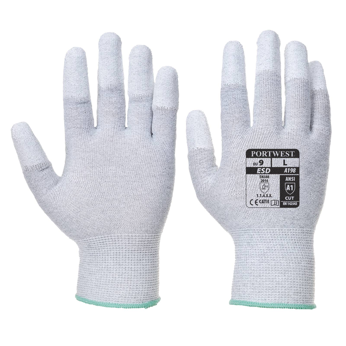 Portwest Handschoenen A198 Antistatisch grijs(GR)