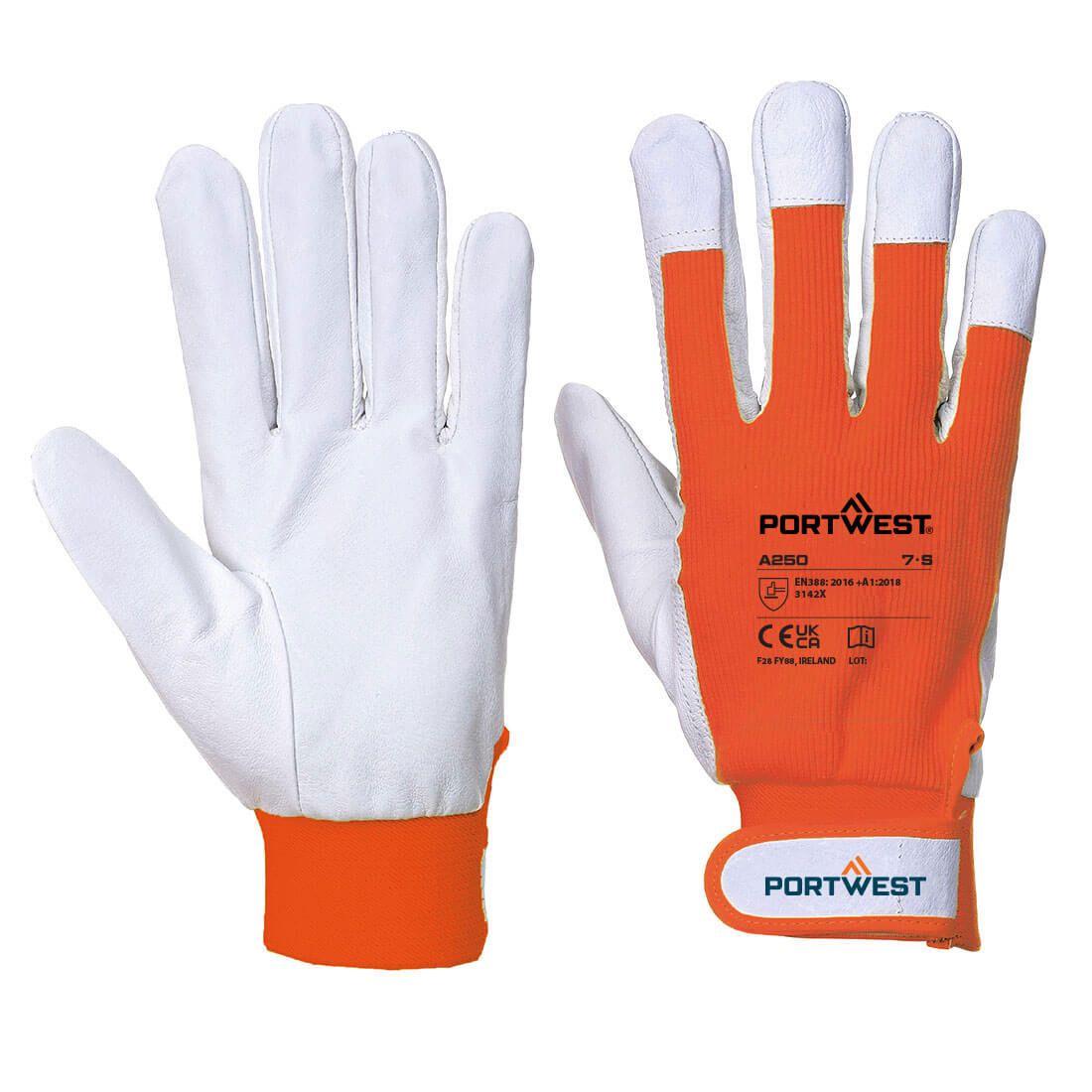 Portwest Handschoenen A250 oranje(OR)