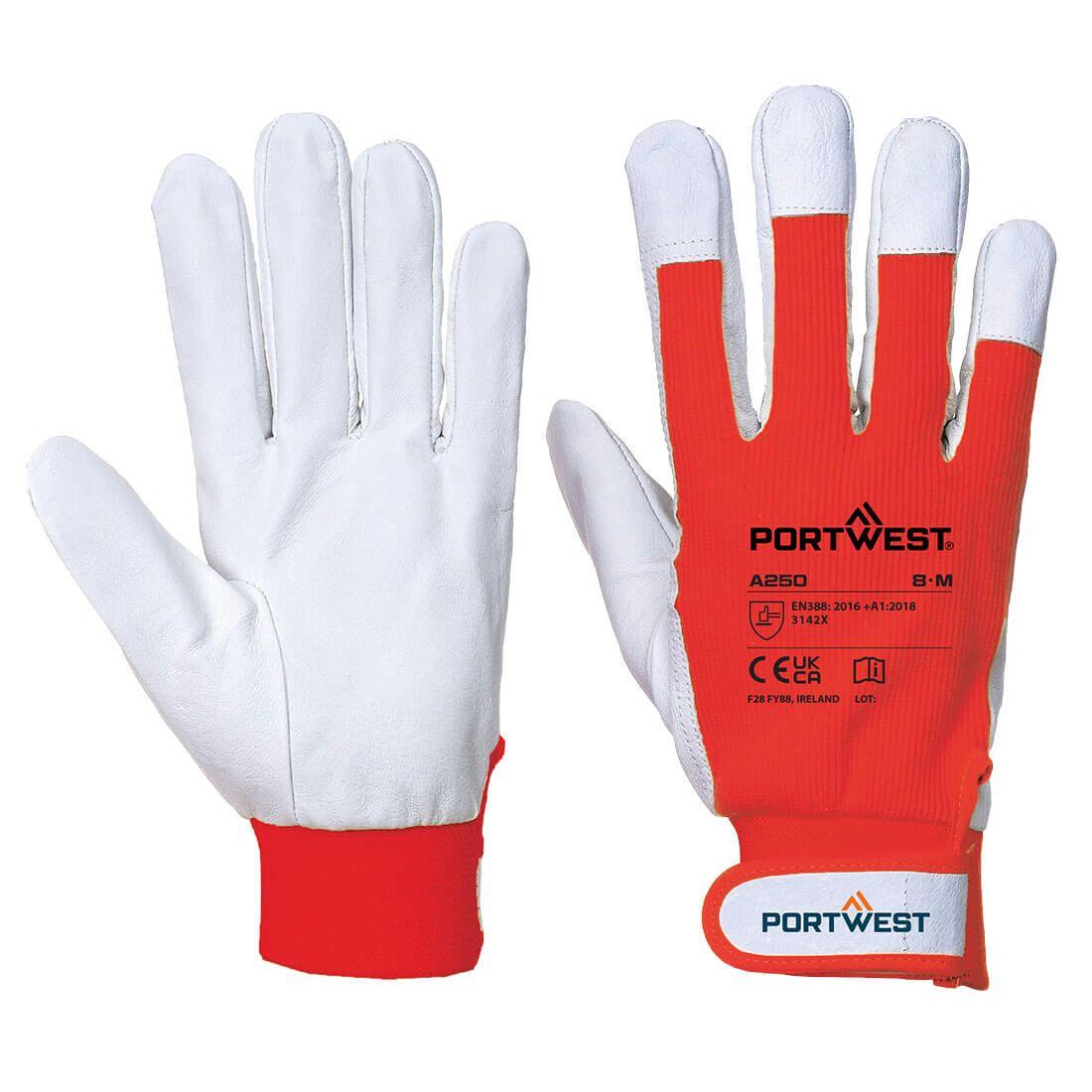 Portwest Handschoenen A250 rood(RE)