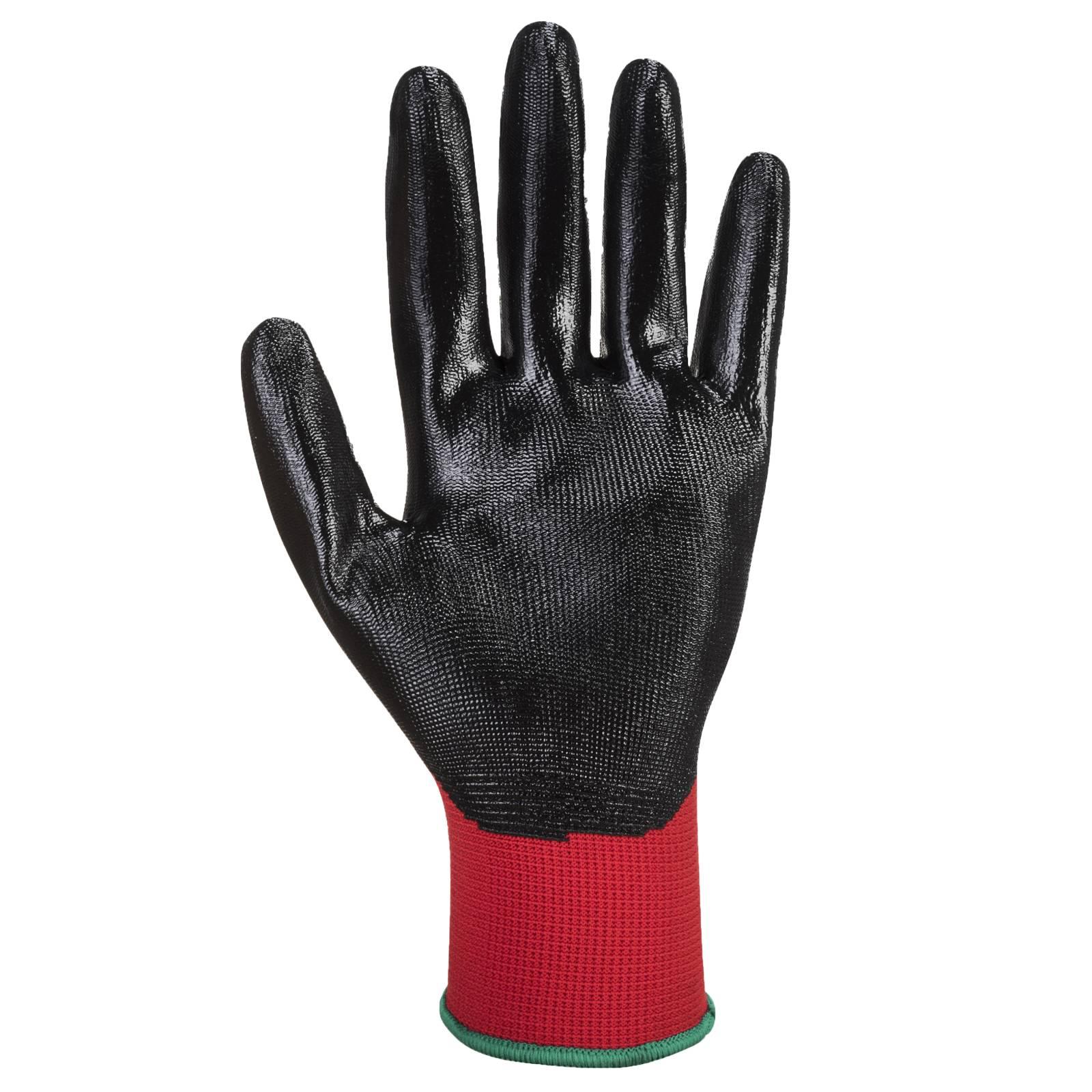 Portwest Handschoenen A310 rood-zwart(R8)