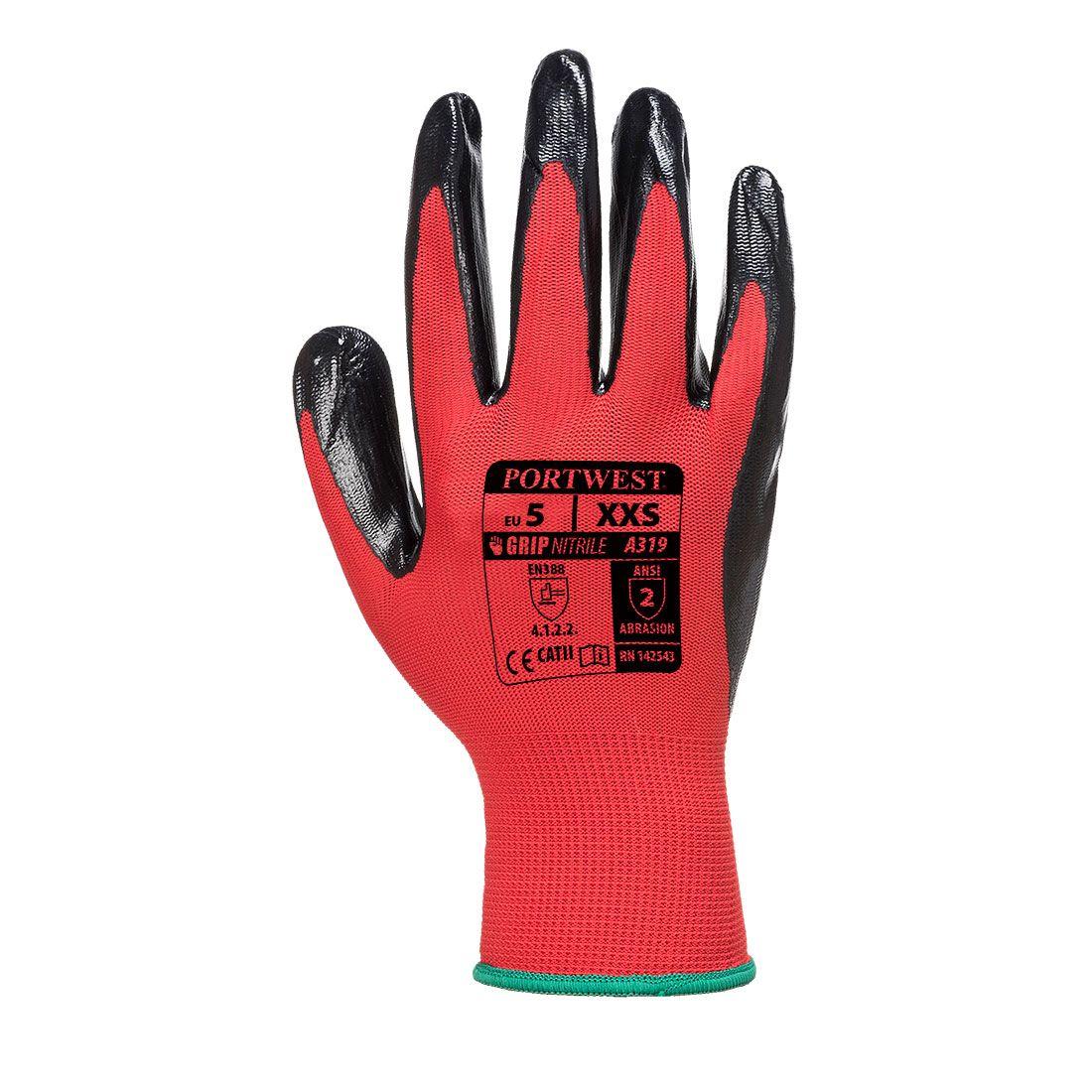 Portwest Handschoenen A319 rood-zwart(R8)