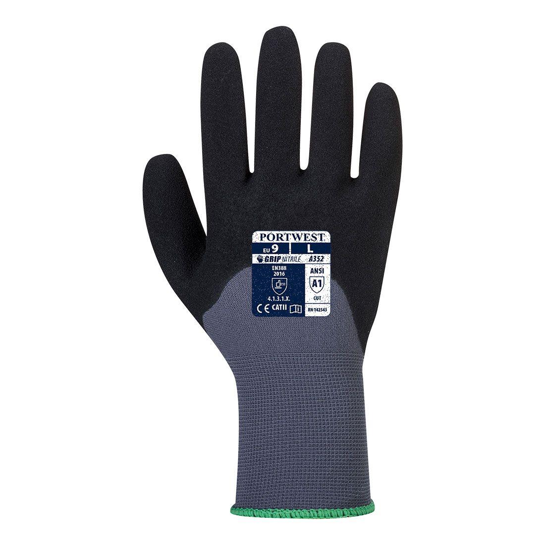 Portwest Handschoenen A352 grijs-zwart(G8)