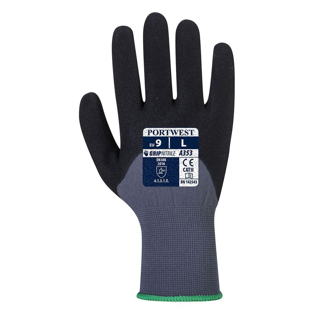 Portwest Handschoenen A353 grijs-zwart(G8)
