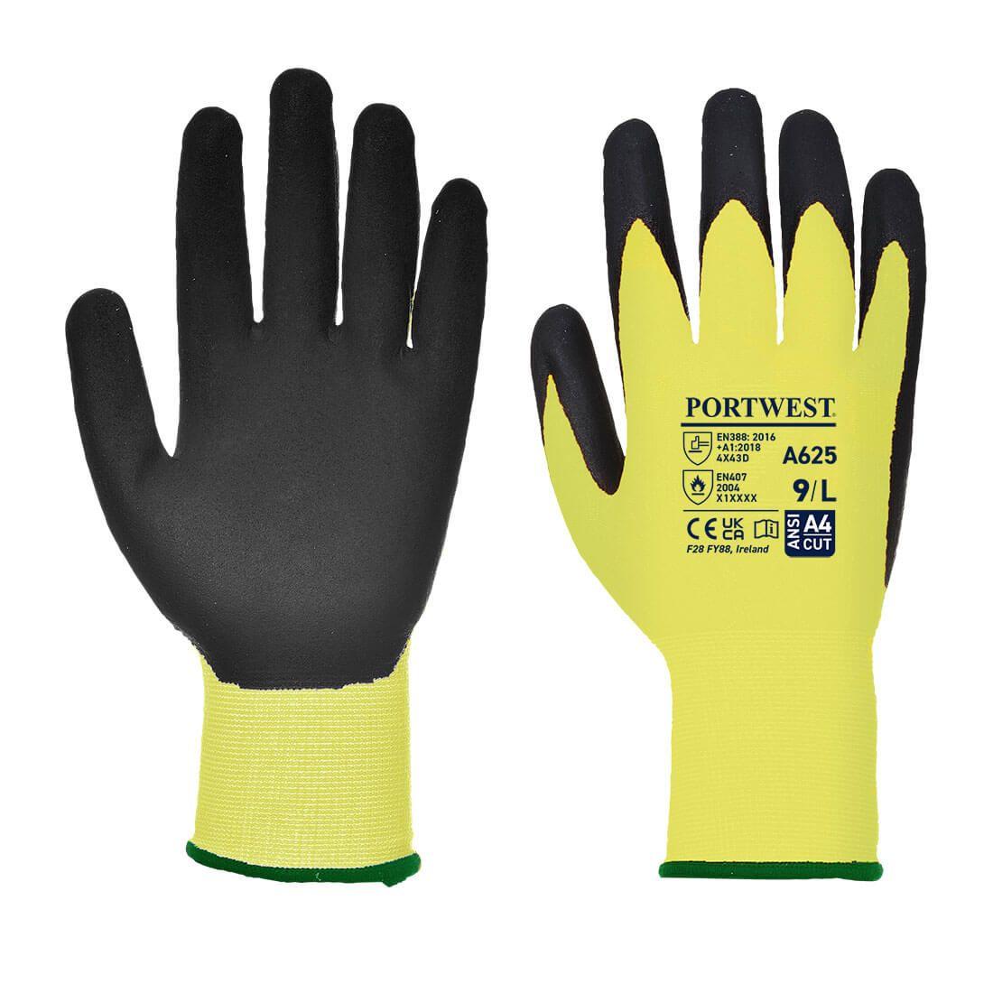 Portwest Handschoenen A625 geel-zwart(Y8)