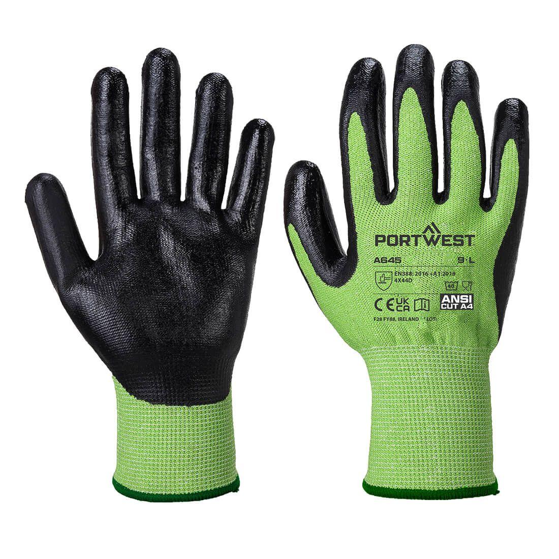 Portwest Handschoenen A645 groen-zwart(E8)