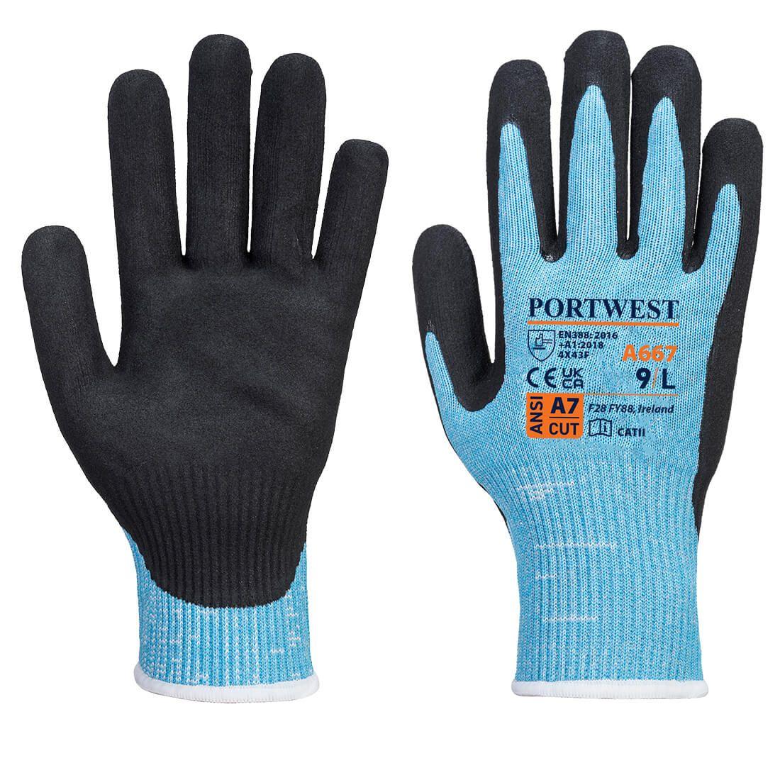 Portwest Handschoenen A667 blauw-zwart(B8)