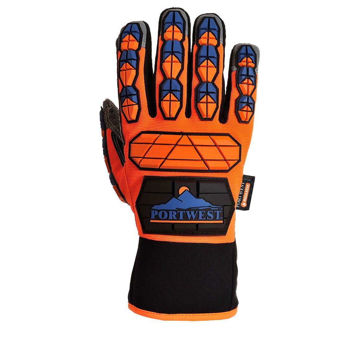 Portwest Handschoenen A726 oranje-blauw(O4)