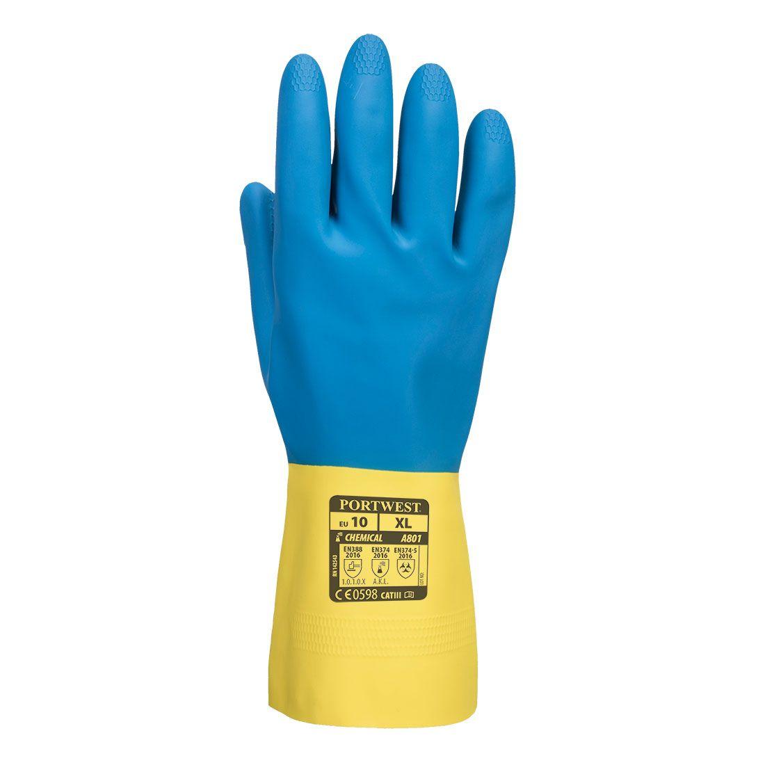 Portwest Handschoenen A801 Chemisch bestendig geel-blauw(Y4)