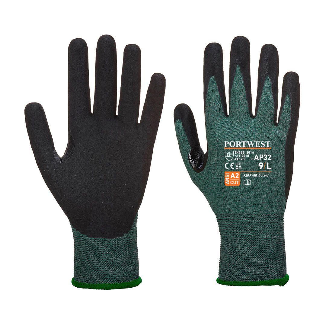 Portwest Handschoenen AP32 zwart-grijs(K7)