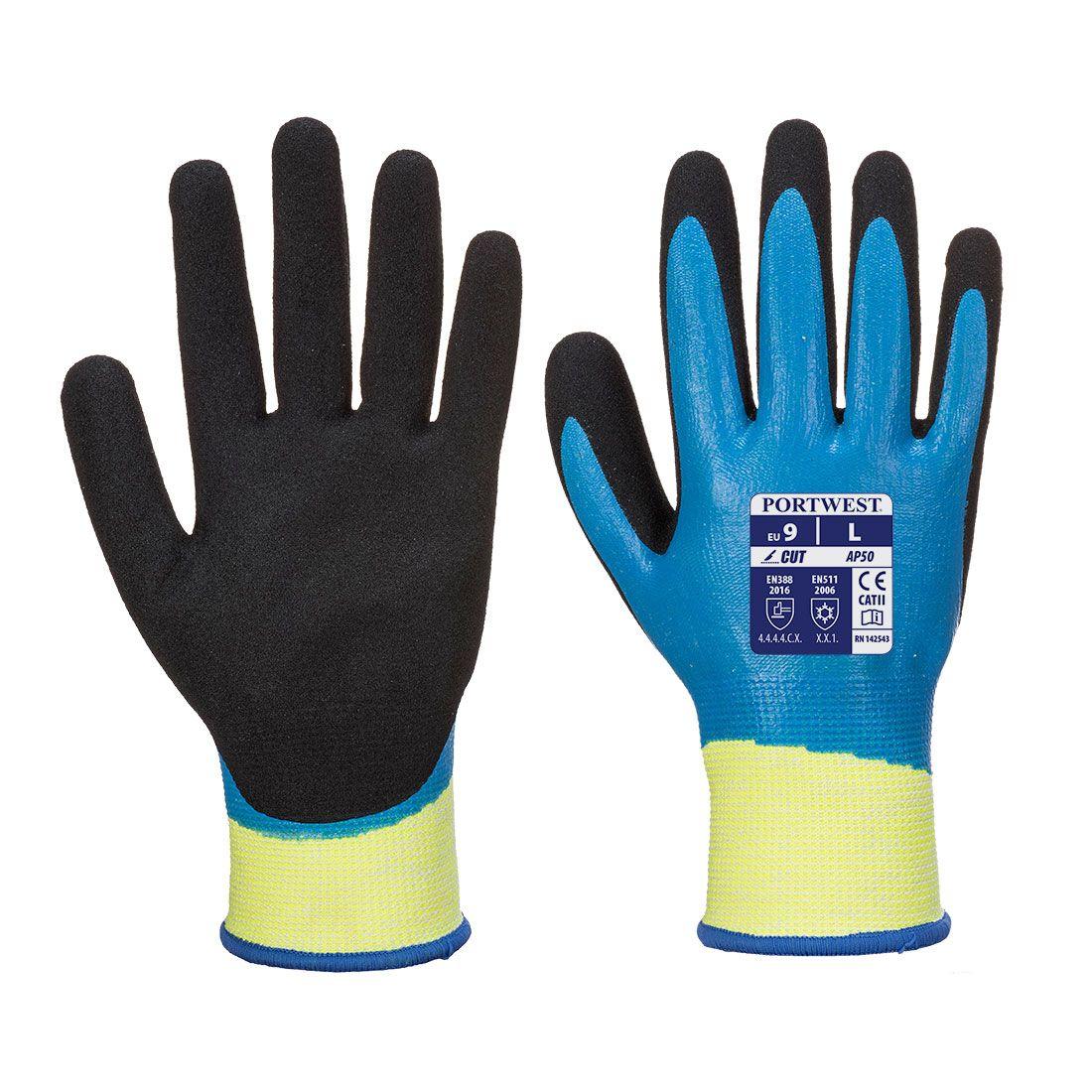 Portwest Handschoenen AP50 blauw-zwart(B8)