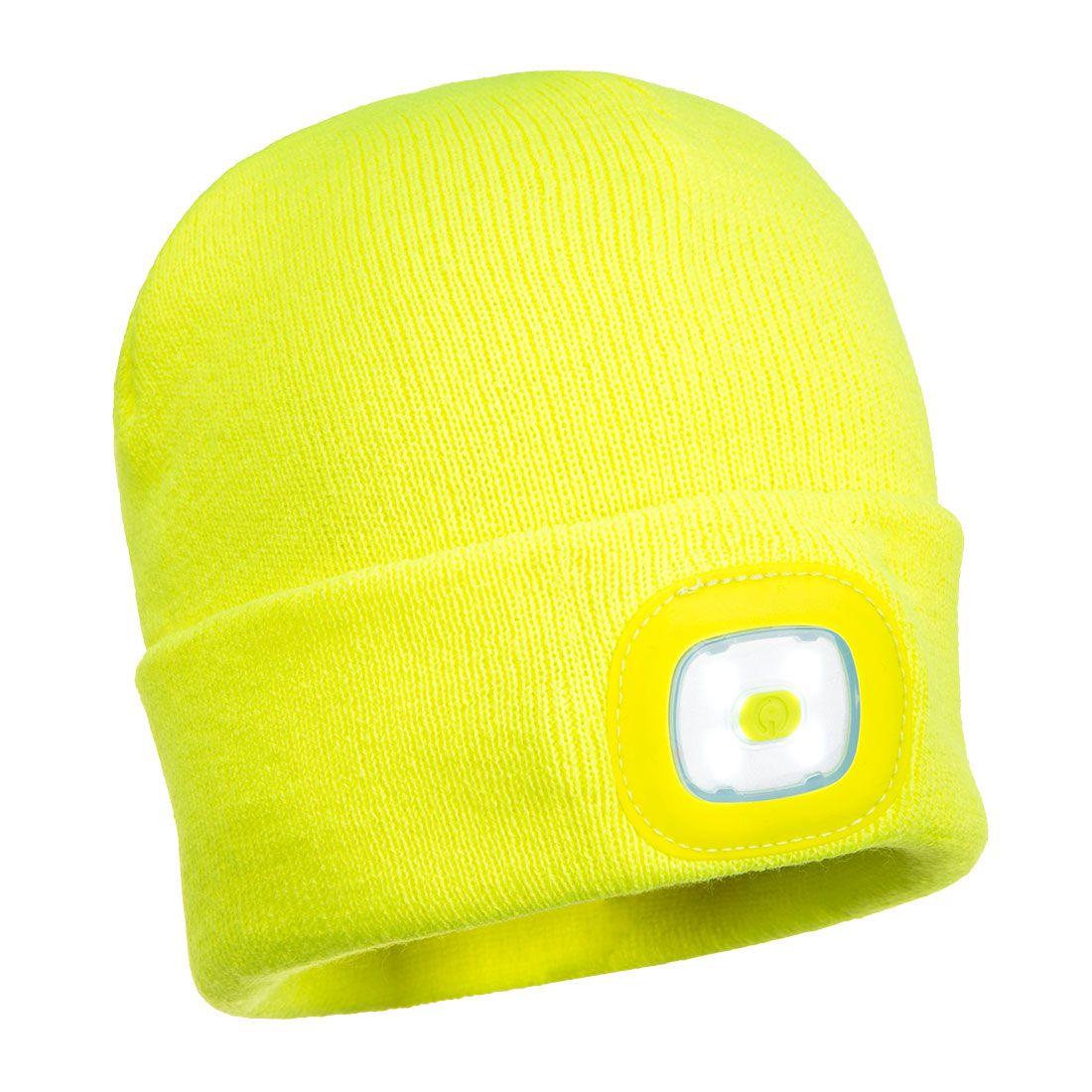 Portwest Mutsen B029 Met LED- verlichting geel(YE)