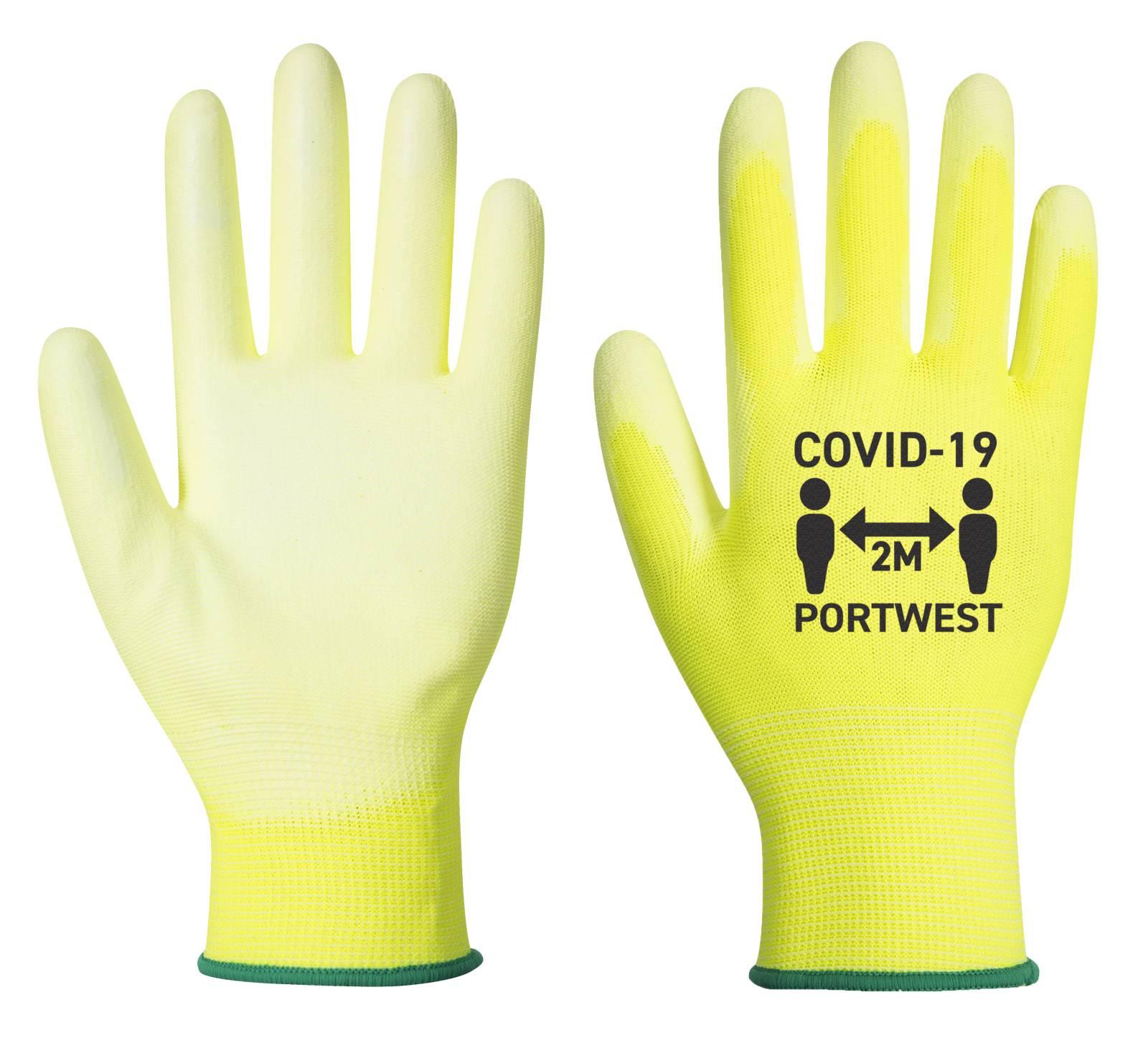 Portwest Covid PU Handschoenen CV20 geel-wit(Y6)