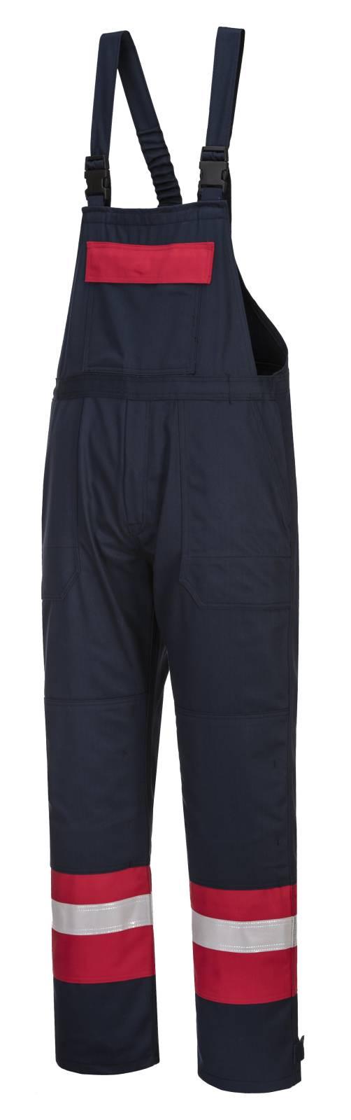 Portwest Bizflame Am. Overalls FR57 Vlamvertragend- antistatisch marineblauw-rood(NA)