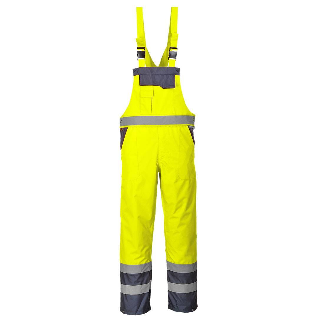 Portwest Am. Overalls S488 High Vis UPF50+ UV geel-marineblauw(YN)