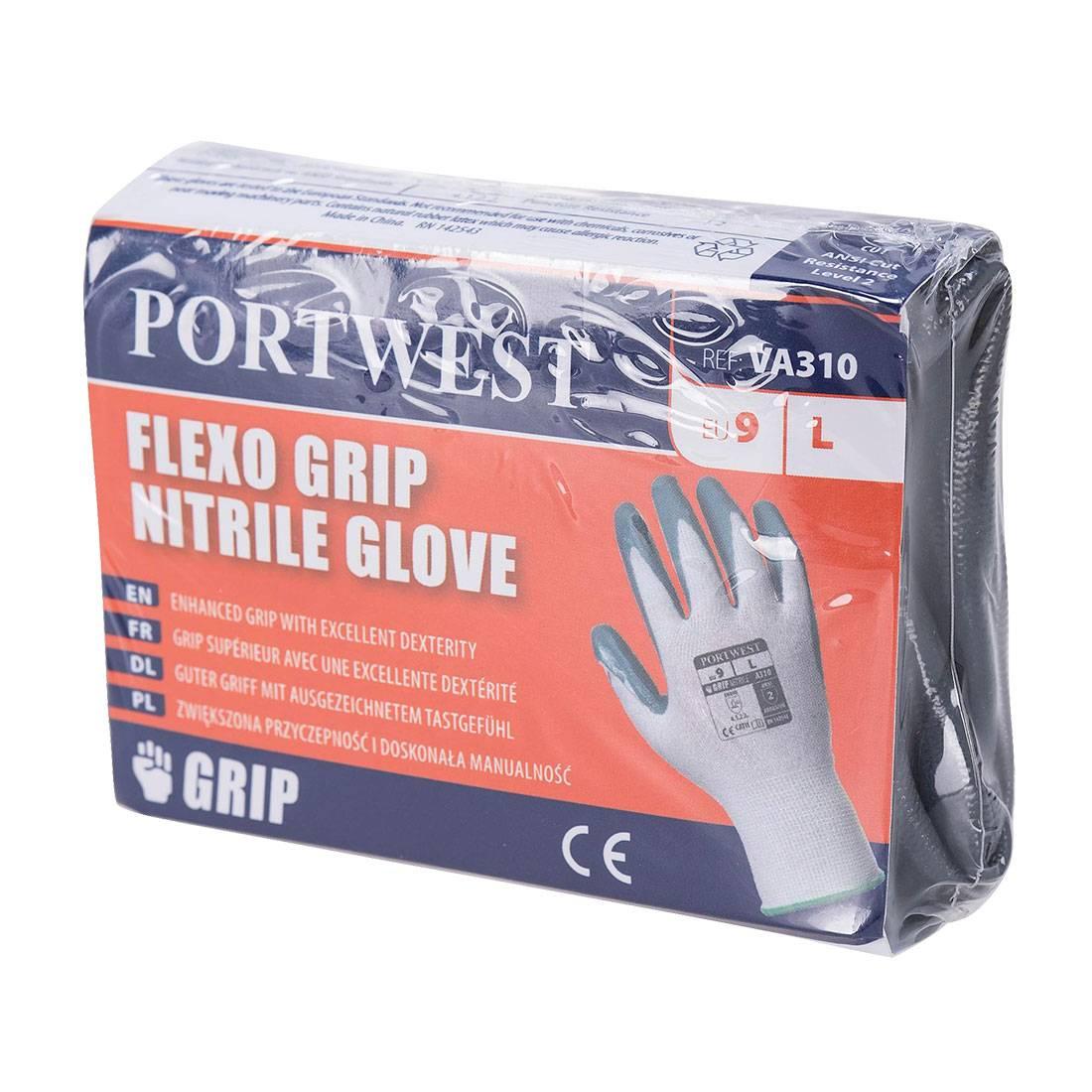 Portwest Handschoenen VA310 wit-grijs(W7)