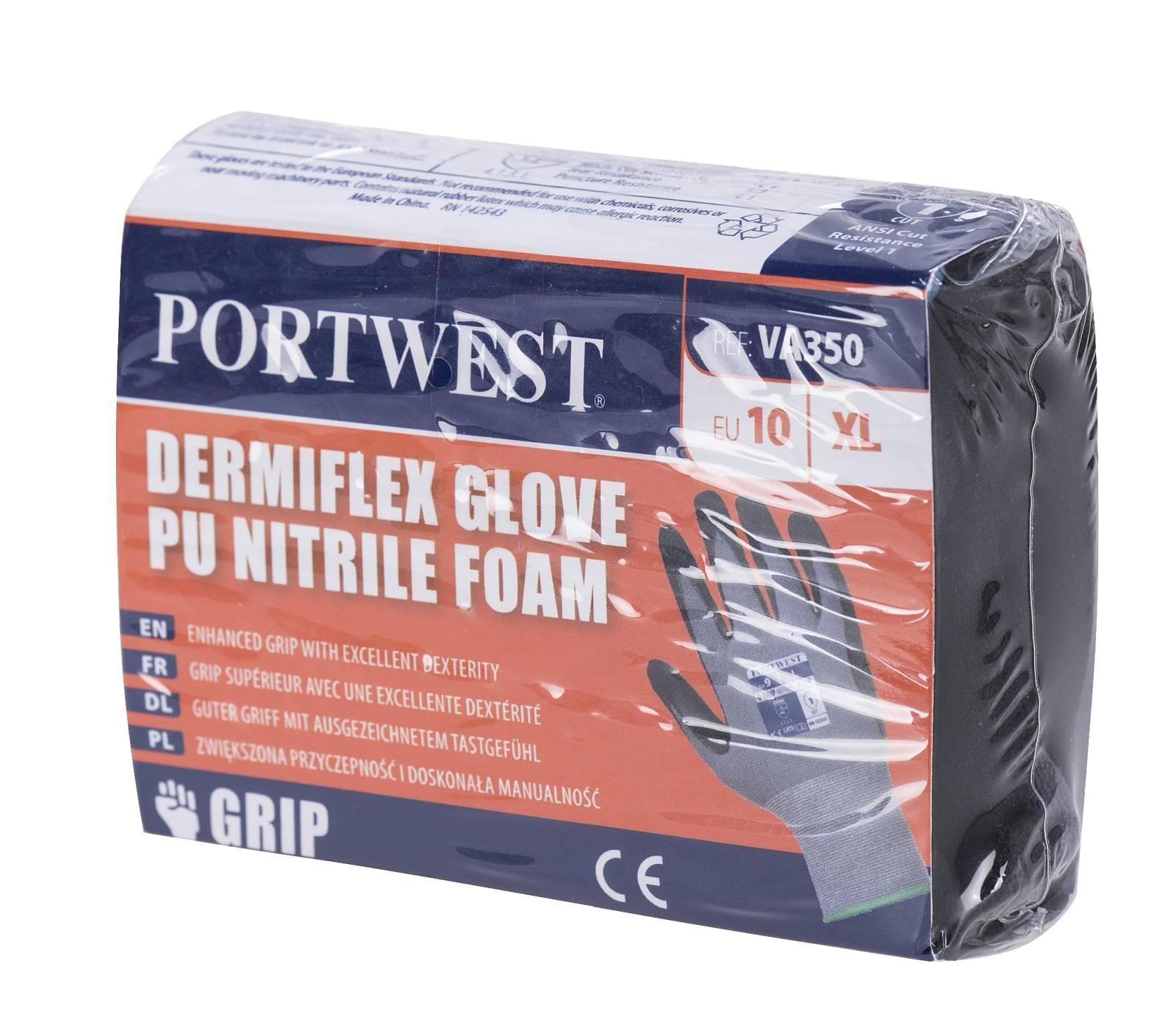 Portwest Handschoenen VA350 grijs-zwart(G8)