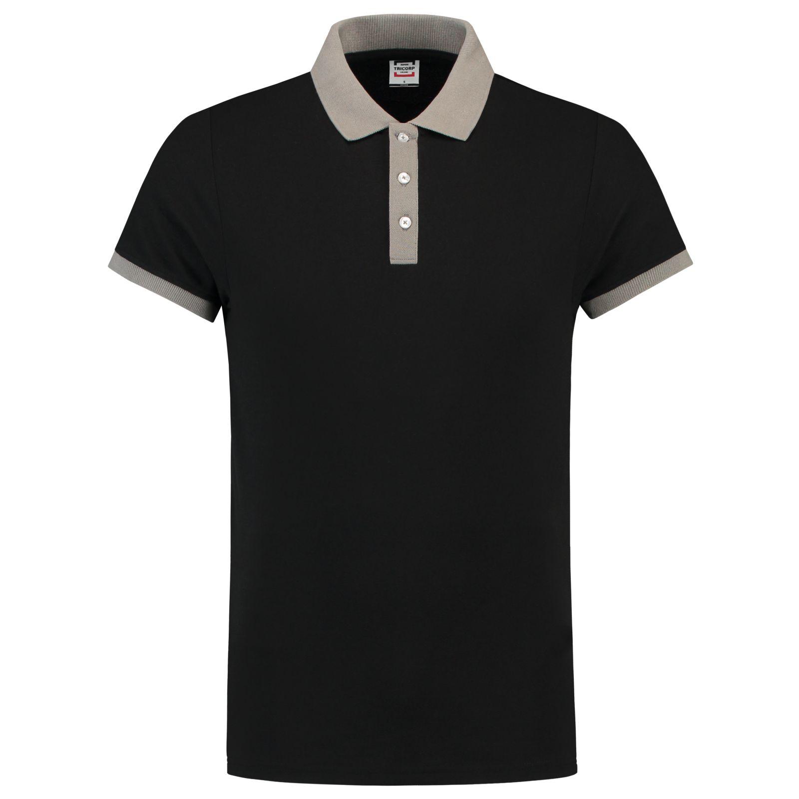 Tricorp Casual Poloshirts 201002-PBF210 zwart-grijs(BlackGrey)