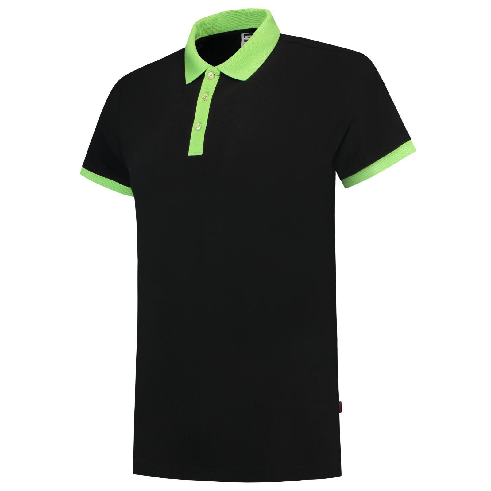 Tricorp Casual Poloshirts 201002-PBF210 zwart-limoen(BlackLime)