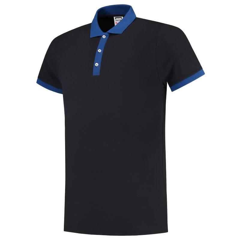 Tricorp Casual Poloshirts 201002-PBF210 marineblauw-koningsblauw(NavyRoyal)