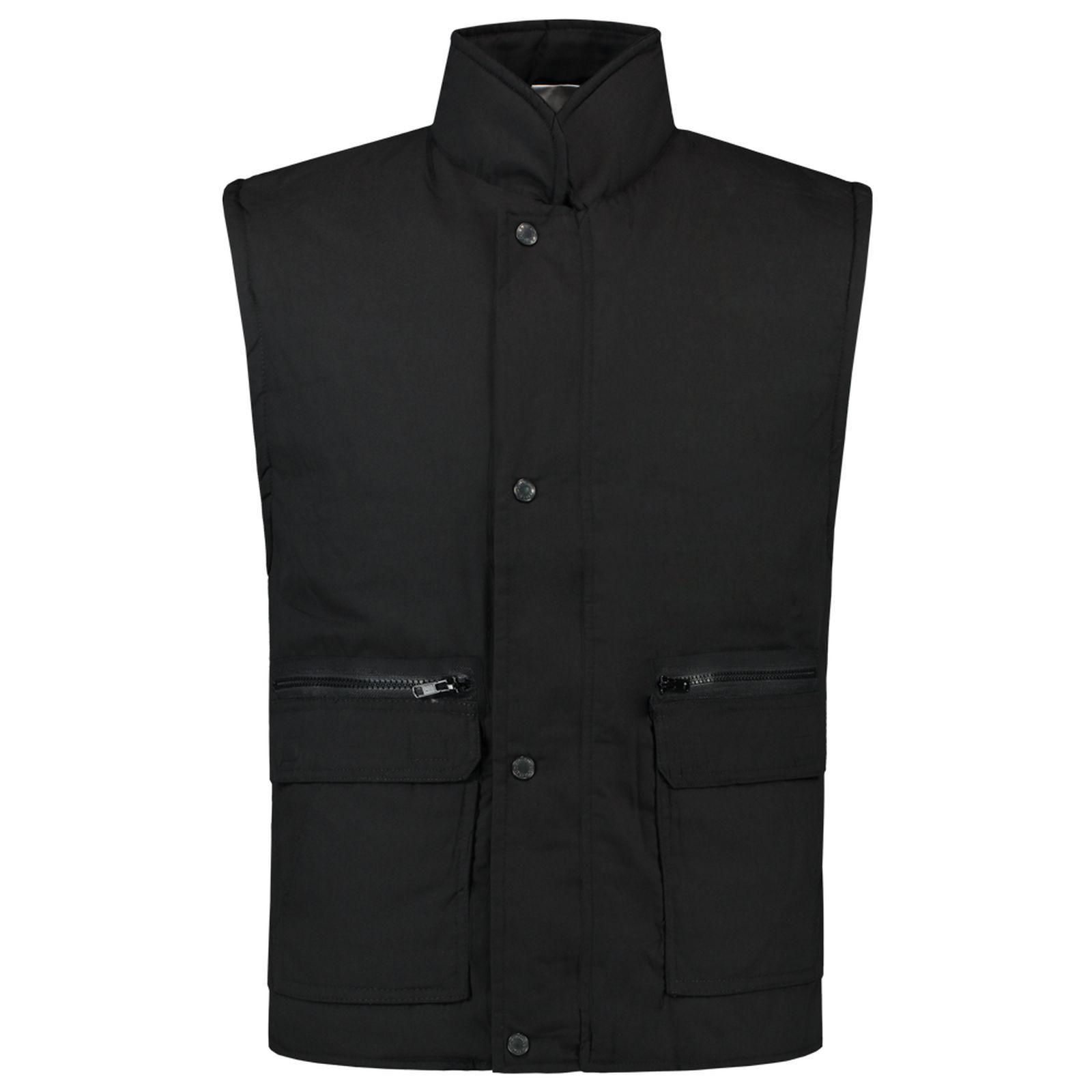 Tricorp Casual Bodywarmers 401001-BW160 Drukknopen Polyester- katoen zwart(Black)