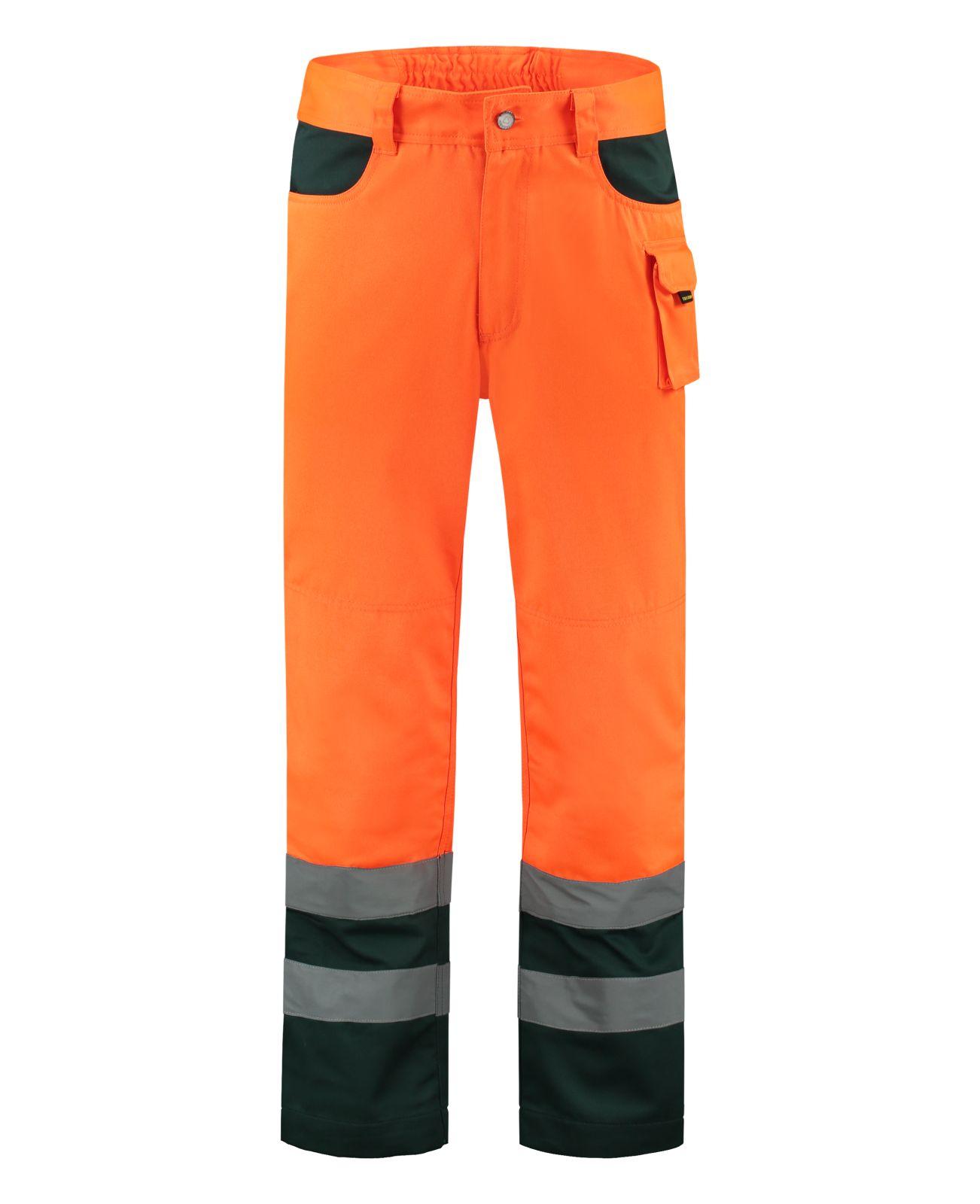 Tricorp Broeken 503002-TWE3001 EN 471 Kniezakken Polyester- katoen fluo oranje-groen(Orangreen)