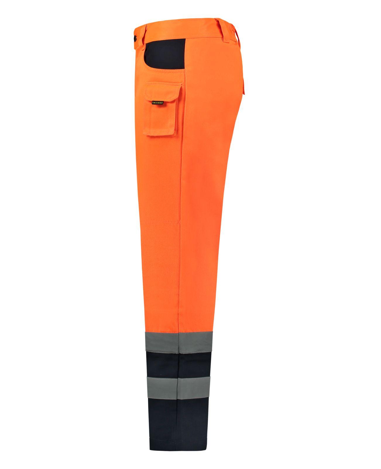 Tricorp Broeken 503002-TWE3001 EN 471 Kniezakken Polyester- katoen fluo oranje-marineblauw(OrangeNavy)
