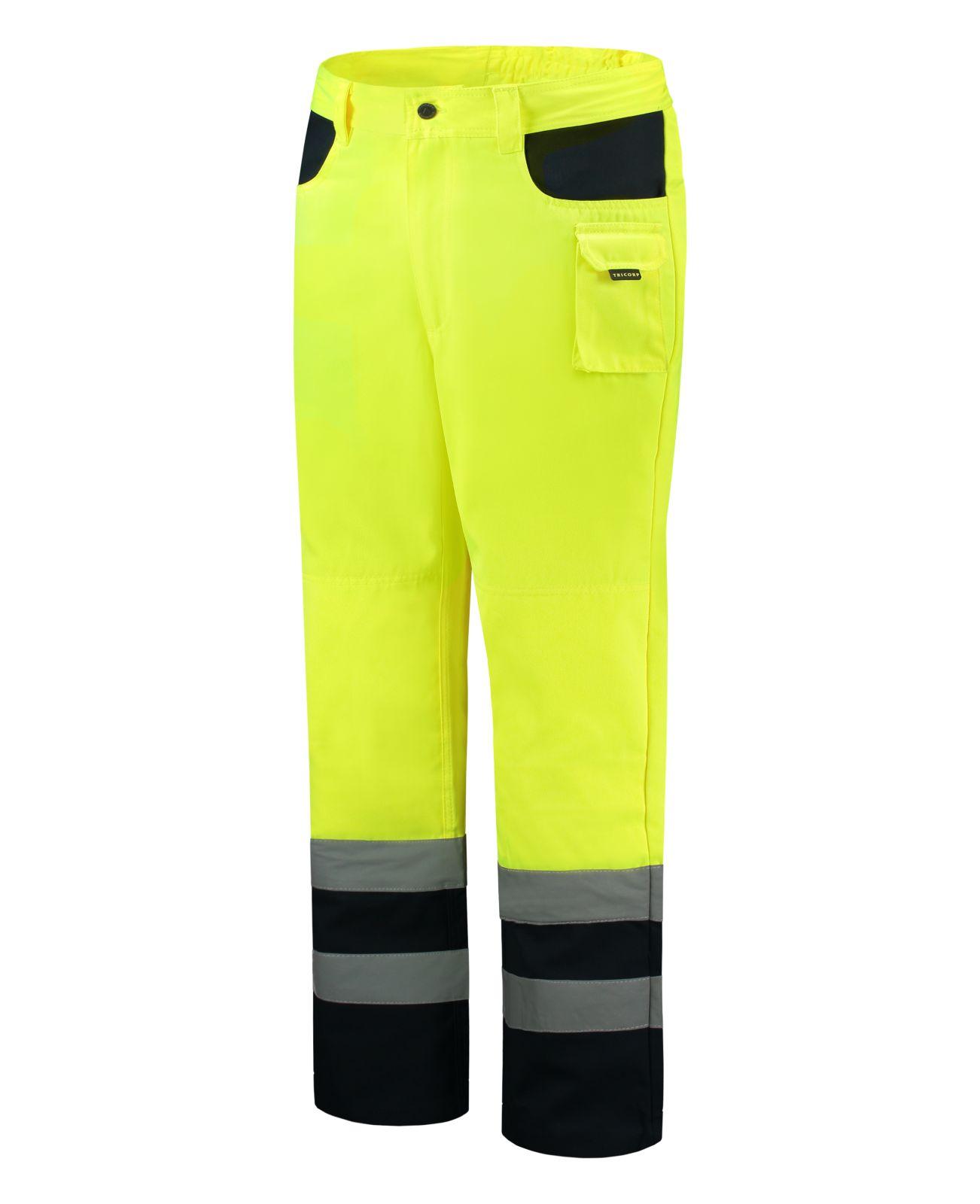 Tricorp Broeken 503002-TWE3001 EN 471 Kniezakken Polyester- katoen fluo geel-marineblauw(Yellownavy)
